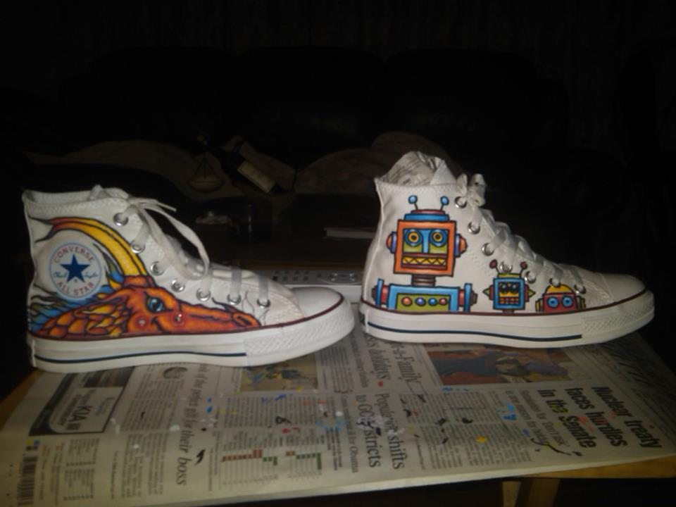 personalised converse trainers